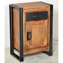 SIT PANAMA Kommode 1 Tür, 1 Schublade natur mit antikschwarz