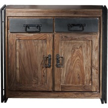 SIT PANAMA Kommode 2 Türen, 2 Schubladen natur mit antikschwarz