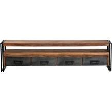 SIT PANAMA Lowboard 4 Schubladen, 1 offenes Fach natur mit antikschwarz