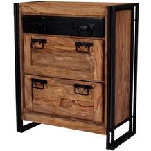 SIT PANAMA Schuhschrank 1 Schublade, 2 Klappen natur mit antikschwarz