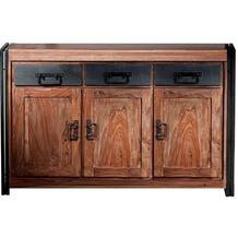 SIT PANAMA Sideboard 3 Türen, 3 Schubläden natur mit antikschwarz