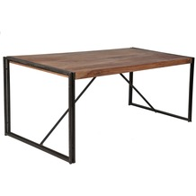 SIT PANAMA Tisch natur mit antikschwarz dunkel