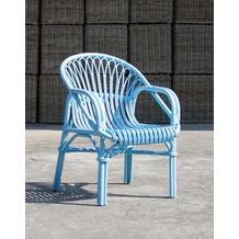 SIT-Möbel RATTAN Armlehnstuhl hellblau