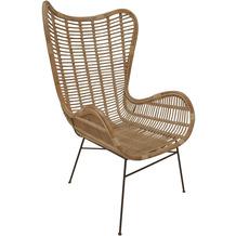 SIT RATTAN Sessel  natur, Gestell antikschwarz