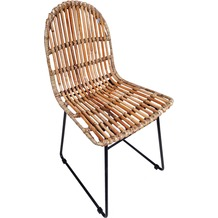 Tom Tailor RATTAN Stuhl, 2er-Set  natur