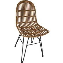 SIT RATTAN Stuhl natur ohne Armlehnen
