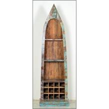 SIT RIVERBOAT Bootsregal 3 Regalfächer, Ablage für 12 Flaschen bunt