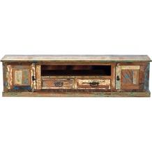 SIT RIVERBOAT Lowboard 2 Holztüren, 2 Schubladen, 1 offenes Fach bunt