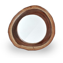 SIT ROMANTEAKA Spiegel natur, rund