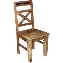 SIT RUSTIC Stuhl, 2er-Set Brettsitz Antikfinish