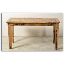 SIT-Möbel RUSTIC Tisch 140 x 70 cm natur antik mit antikschwarzen Beschlägen
