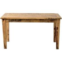 SIT RUSTIC Tisch 140 x 70 cm natur antik mit antikschwarzen Beschlägen