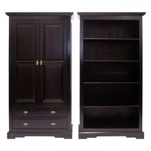 SIT SAMBA Aktenschrank 2 Türen, 2 Schubladen, 3 verstellbare Böden, mit Wechselprofilen antikfinish