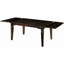 SIT SAMBA Tisch 160 x 90 cm mit 2 Ansteckplatten á 40 cm antikfinish