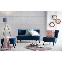 SIT SIT4SOFA Sofa 2-Sitzer grün Bezug blau, Beine schwarz