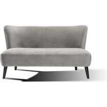 SIT SIT4SOFA Sofa 2-Sitzer hellgrau Bezug hellgrau, Beine schwarz