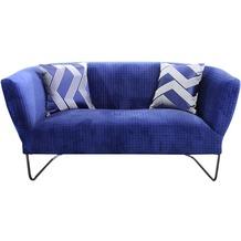 SIT SIT4SOFA Sofa 2-Sitzer inklusive 2 Kissen Bezug blau, Gestell antikschwarz
