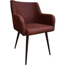 SIT SIT&CHAIRS Armlehnstuhl, 2er-Set Bezug: Cowboy brown Bezug braun, Gestell antikschwarz