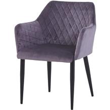SIT SIT&CHAIRS Armlehnstuhl, 2er-Set dunkelgrau Gestell schwarz, Bezug dunkelgrau