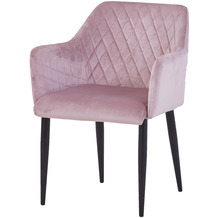 SIT SIT&CHAIRS Armlehnstuhl, 2er-Set dusty rose Gestell schwarz, Bezug altrosa