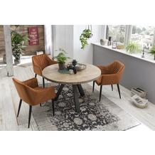 SIT SIT&CHAIRS Armlehnstuhl, 2er-Set kupfer Gestell schwarz, Bezug kupferfarbig