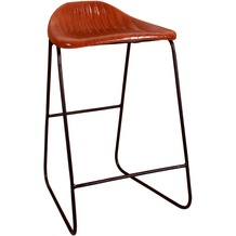 SIT SIT&CHAIRS Barhocker mit Streifensteppung Gestell schwarz, Bezug hellbraun