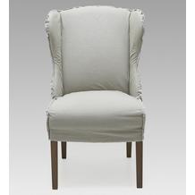SIT SIT&CHAIRS Sessel, 2er-Set Bezug Jeansstoff natur, Nähte weiß, Beine grau