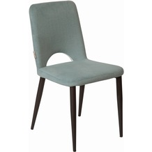Tom Tailor Sit & Chairs Stuhl, 2er-Set Bezug grau Gestell schwarz, Bezug grau
