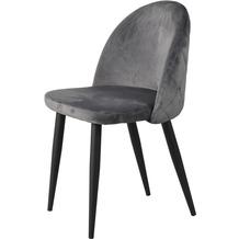 SIT SIT&CHAIRS Stuhl, 2er-Set dunkelgrau Gestell schwarz, geschlossenes Design