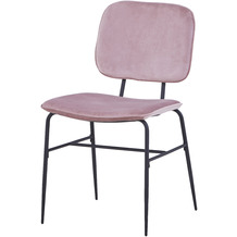 SIT SIT&CHAIRS Stuhl, 2er-Set dusty rose Gestell schwarz, Bezug altrosa