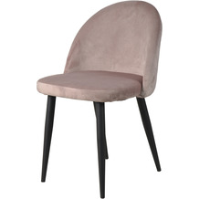SIT SIT&CHAIRS Stuhl, 2er-Set dusty rose Gestell schwarz, Bezug altrosa, geschlossenes Design