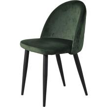 SIT SIT&CHAIRS Stuhl, 2er-Set forest green Gestell schwarz, Bezug dunkelgrün