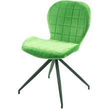 SIT SIT&CHAIRS Stuhl, 2er-Set hellgrün Gestell schwarz, Bezug hellgrün