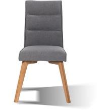 "SIT-Möbel SIT&CHAIRS Stuhl, 2er Set Beine Holz antikfinish, Bezug Stoff ""Cape"" grau"