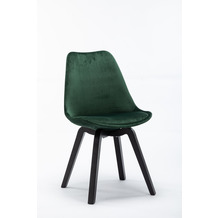 SIT SIT&CHAIRS Stuhl, 4er-Set grün Gestell schwarz, Bezug grün
