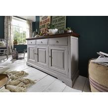 SIT SPA Sideboard 3 Holztüren, 3 Schubladen taupe mit messingfarbenen Griffen