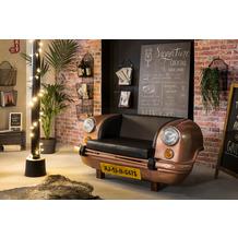 SIT THIS & THAT Auto-Sofa Recycelte Autofront braun/schwarz bronze, Kissen schwarz