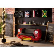 SIT THIS & THAT Auto-Sofa Recycelte Autofront rot/schwarz rot, Kissen schwarz