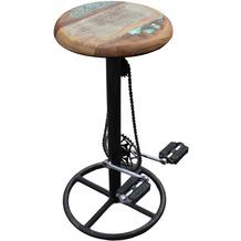 SIT THIS & THAT Barhocker im Fahrradstil Gestell antik, Sitz bunt