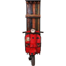 SIT THIS & THAT Barschrank Recycelte Front eines Vespa-Rollers mit Glas- und Flaschenhalter rot/bunt
