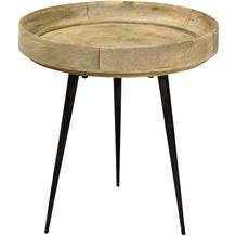SIT THIS & THAT Beistelltisch 40 x 40 cm Platte braun, Gestell schwarz
