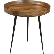 SIT THIS & THAT Beistelltisch 50 x 50 cm Platte braun, Gestell schwarz