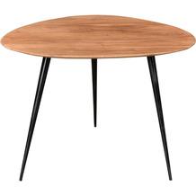 SIT THIS & THAT Beistelltisch 54 x 49 cm 3 Beine, Platte dreieckig, mit abgerundeten Ecken Platte natur, Beine schwarz