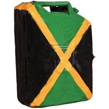 "SIT THIS & THAT Kanister-Hängeschrank aus recyceltem Kanister ""Jamaika"" mit jamaikanischer Flagge"