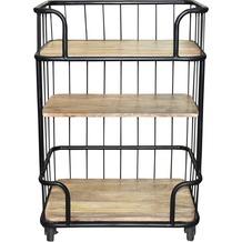 SIT THIS & THAT Küchenwagen 3 Ablagen, auf Rollen schwarz