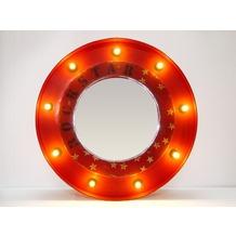 SIT THIS & THAT Spiegel Spiegel mit beleuchtetem Rahmen, rund rot