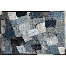 SIT-Möbel THIS & THAT Teppich 170x240 cm Jeansflicken blau