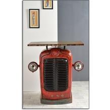 SIT THIS & THAT Traktor-Schrank 2 Türen rot, Deckplatte bunt
