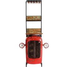 SIT THIS & THAT Traktor - Barschrank 1 Tür, 2 Ablagen, Glashalterung, innen Ablage für Flaschen Rot-bunt