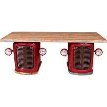 SIT THIS & THAT Traktor - Schreibtisch 4 Türen, 2 Schubladen Rot-bunt